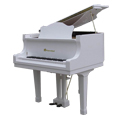 Shoenhut Children's Baby Grand Piano 44 Key with Ivory Finish