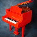 Shoenhut Children's Baby Grand Piano 44 Key with Red Finish
