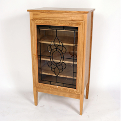 Roll Cabinet - Light Oak Finish